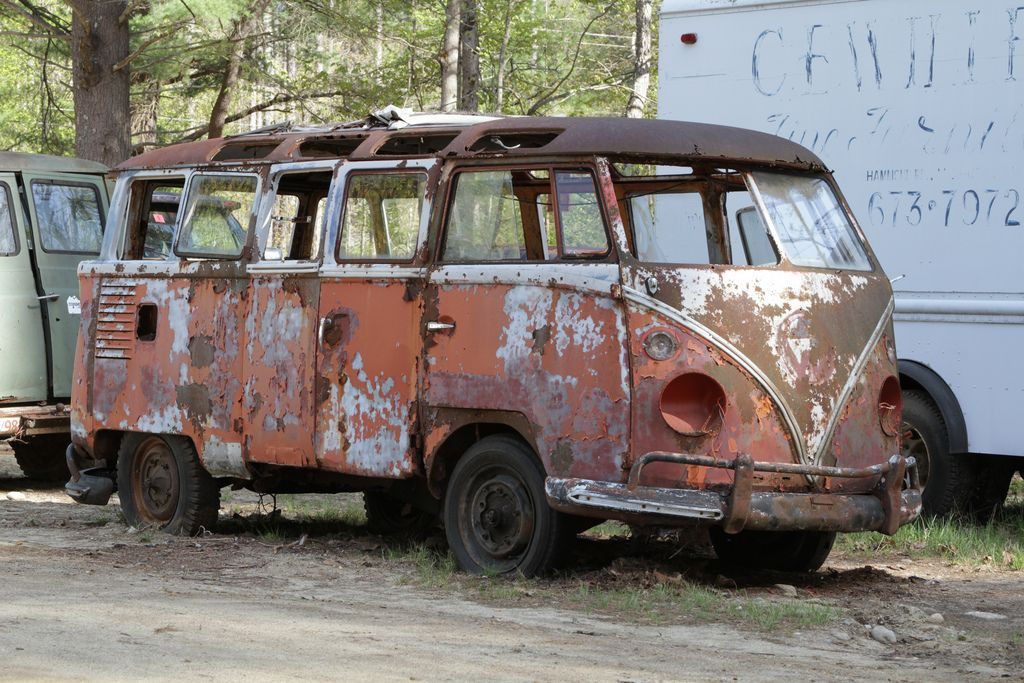 VW MicroBus | VW bus love | Junkyard cars, Abandoned cars