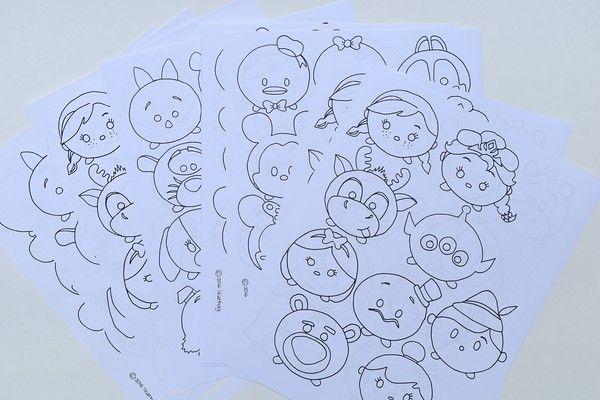 Tsum Tsum Para Colorear Pintar E Imprimir: Tsum_tsum_printable_party