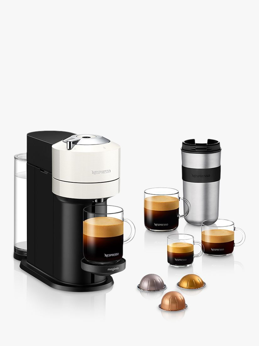 Nespresso Vertuo Next Coffee Maker by Magimix, White in