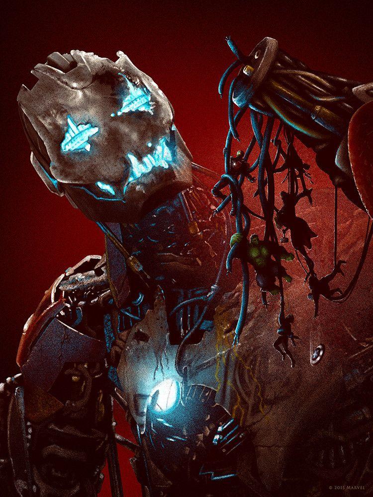 Tangled In Strings Ultron Tony Stark Bruce Banner