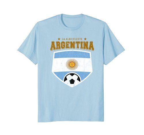 177d3e78896 2018 Argentina Football World Flag T-Shirt Soccer Cup Shirt - World Cup  Russia 2018 Shirt