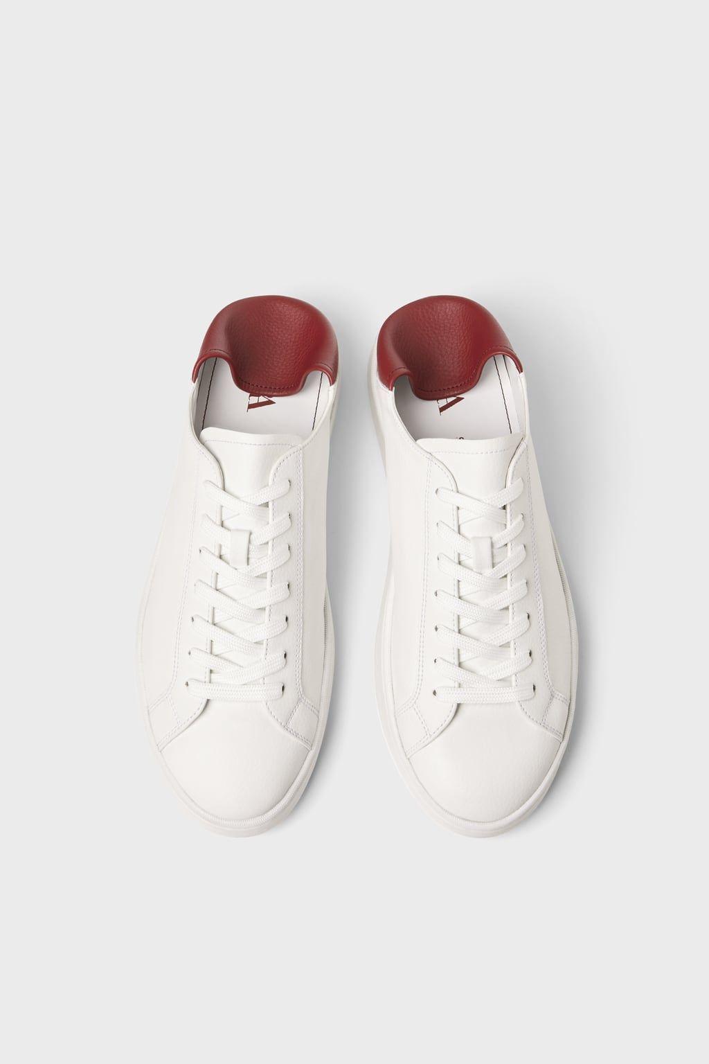 Sepatu Sneakers Putih Slingback Dua Warna Sepatu Sepatu Kets Zara