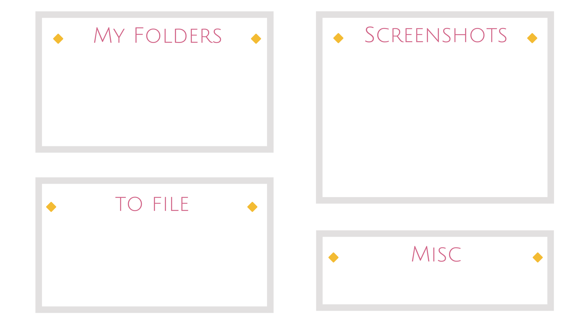 minimal white grey pink yellow desktop organizer wallpaper background