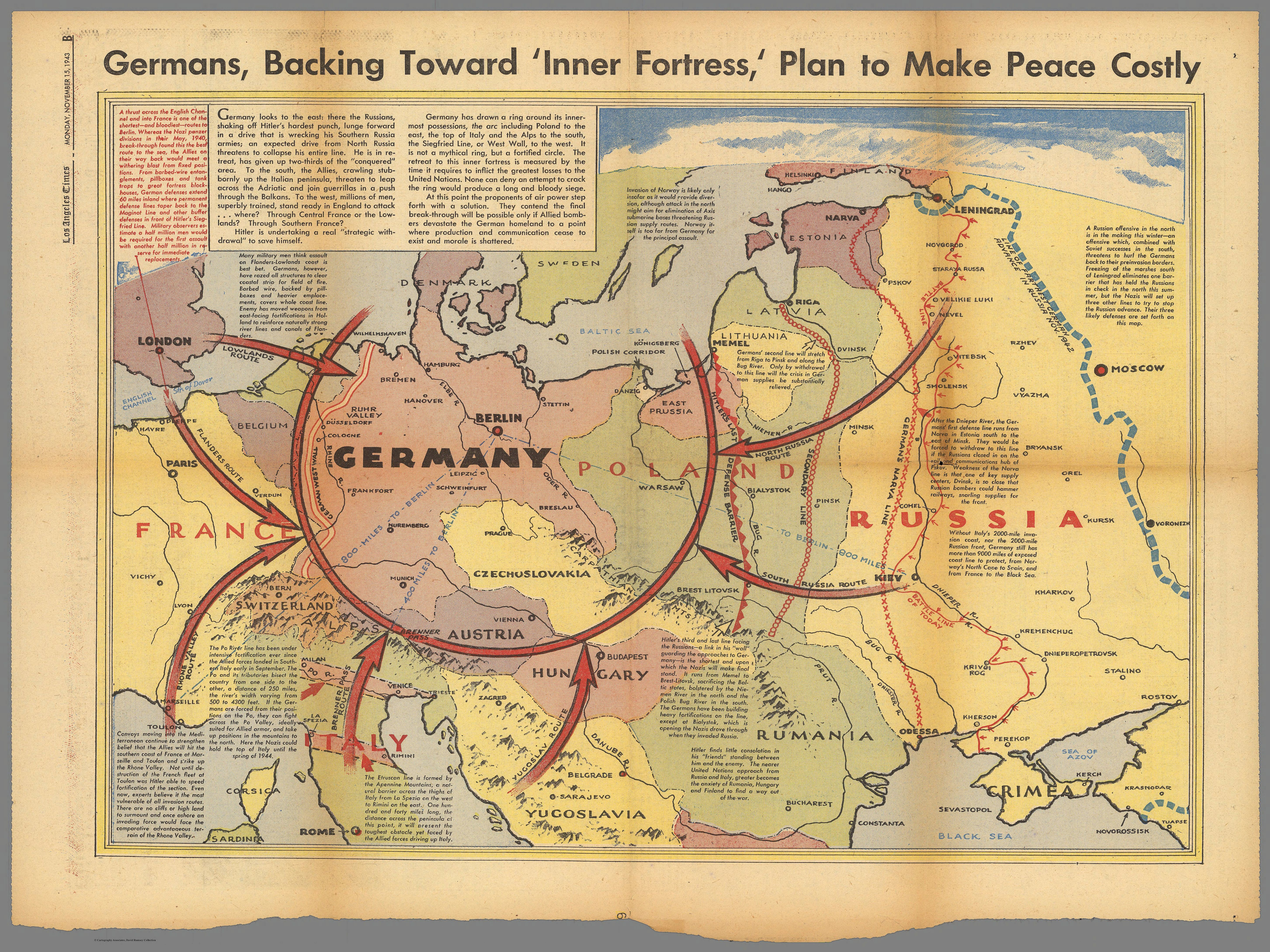 Germans Backing Toward Inner Fortress Plan To Make Peace Costly