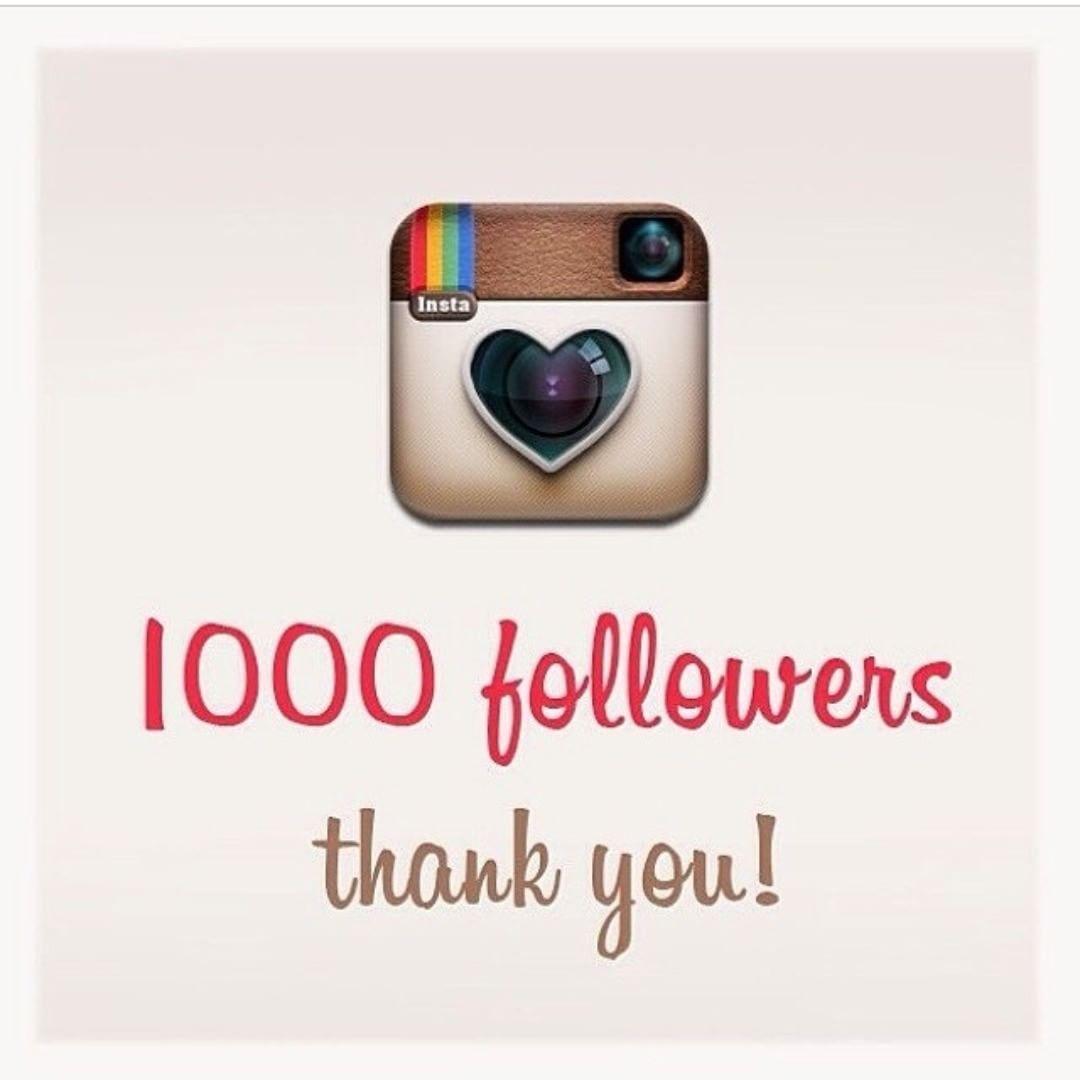 1000 FOLLOWERS! Thank you for appreciating my creativity