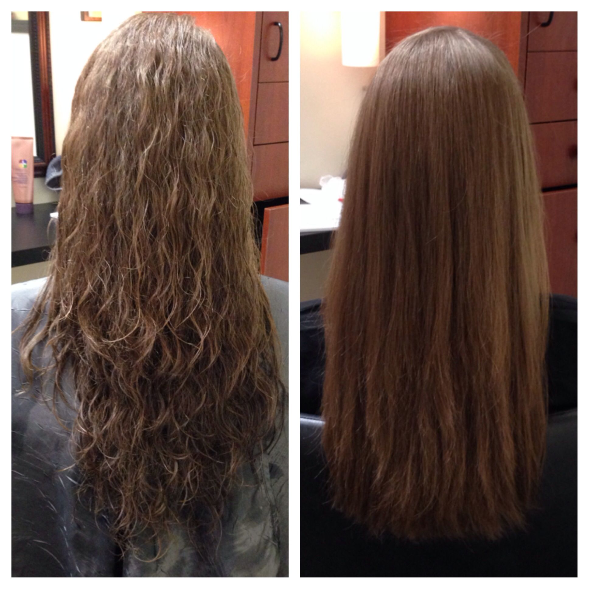 Before And After Keratin Express Blow Out Hair Hair Treatment Damaged Hair