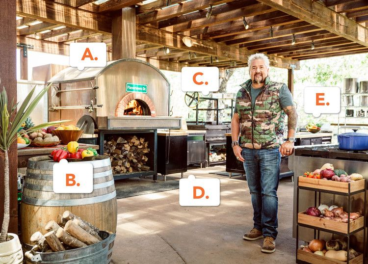 Guy Fieri Gives Fans A Tour Of His California Outdoor Kitchen Food Network Magazine Outdoor Kitchen Backyard Kitchen California Outdoor