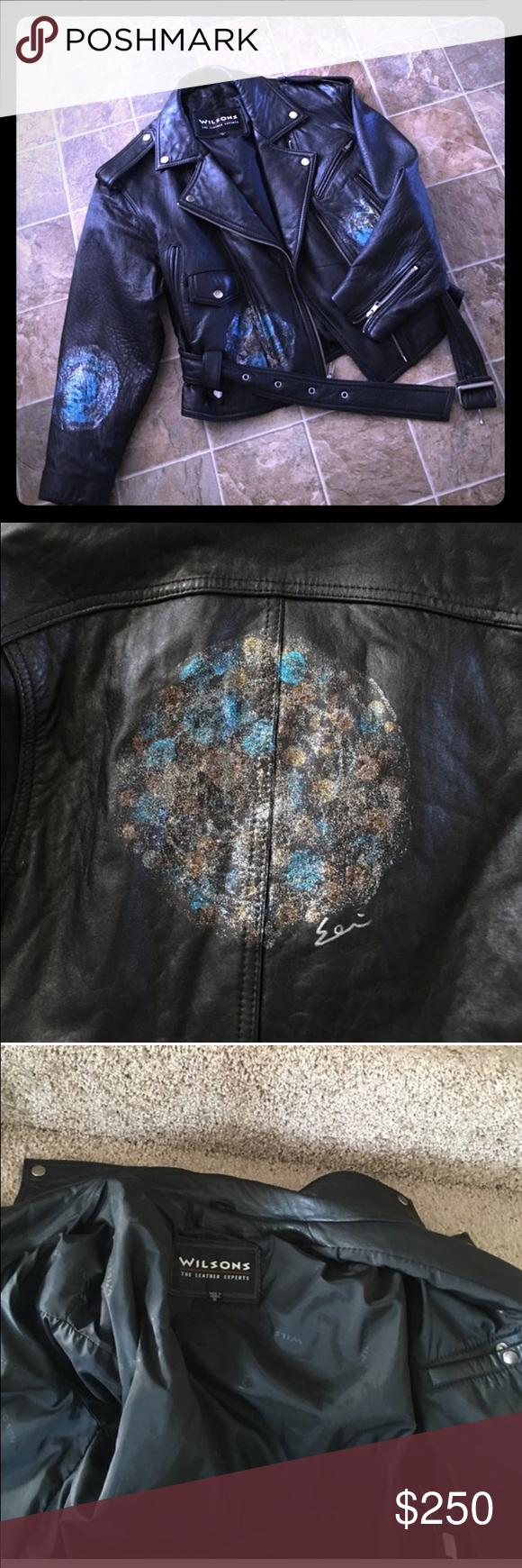 Wilson's Leather Jacket M. Julian size Large Leather