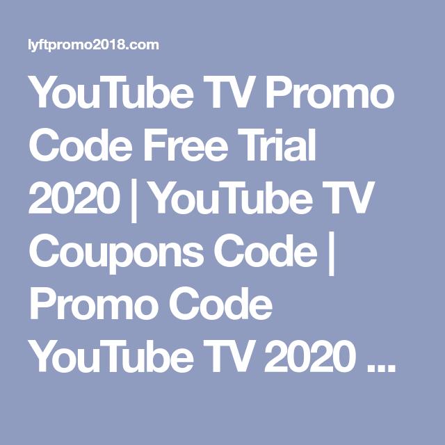 Youtube Tv Promo Code Free Trial 2020 Youtube Tv Coupons Code Promo Code Youtube Tv 2020 Tv Youtube Com Start Enter Code Youtu In 2020 Promo Codes Coding Youtube