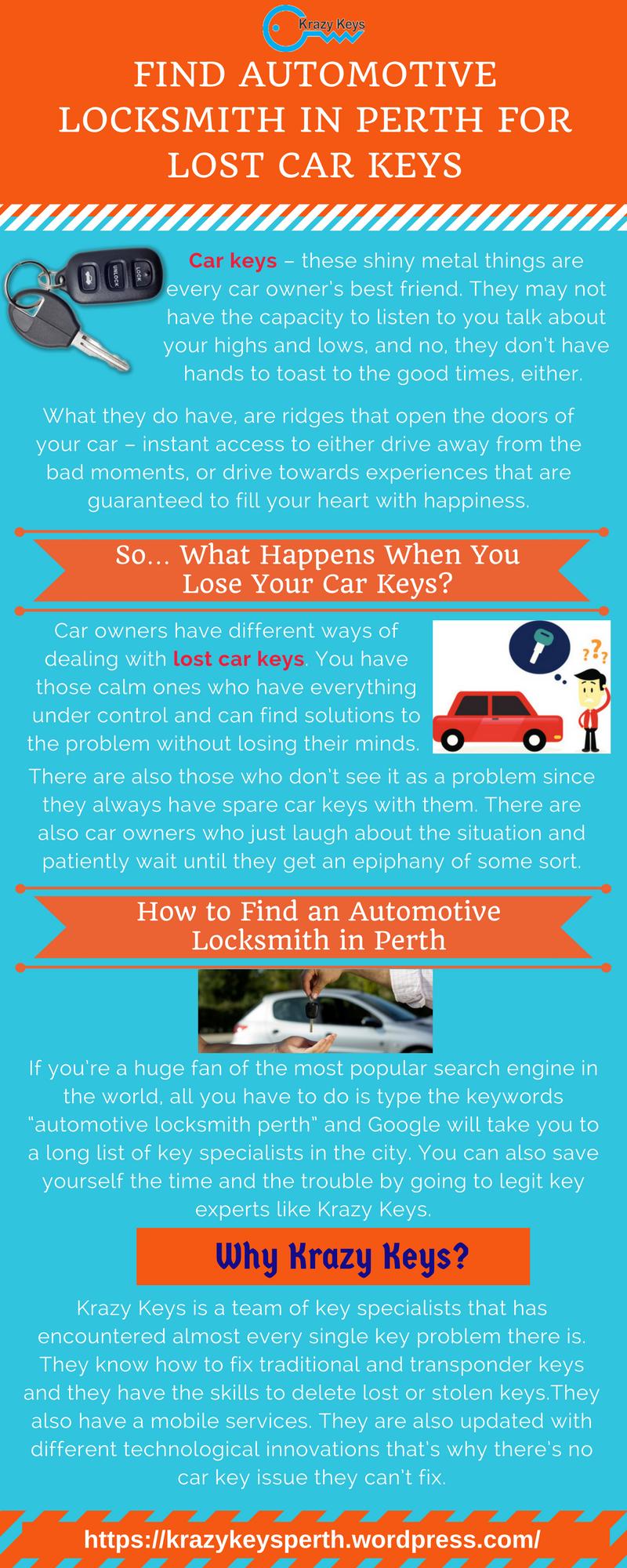 Lost Car Keys Car Key Replacement Automotive Locksmith Perth Australia Infographics