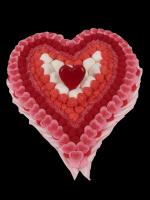 Cœur en bonbons. Je t'aime à la folie !!!!!!!!!!! Partagez avec 30 convives ce coeur aux saveurs de fraise!!