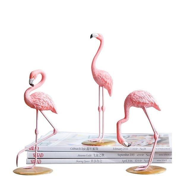 PINK FLAMINGO FIGURINE Tropical Statue Collectible Bird Resin Gift Home Decor 4