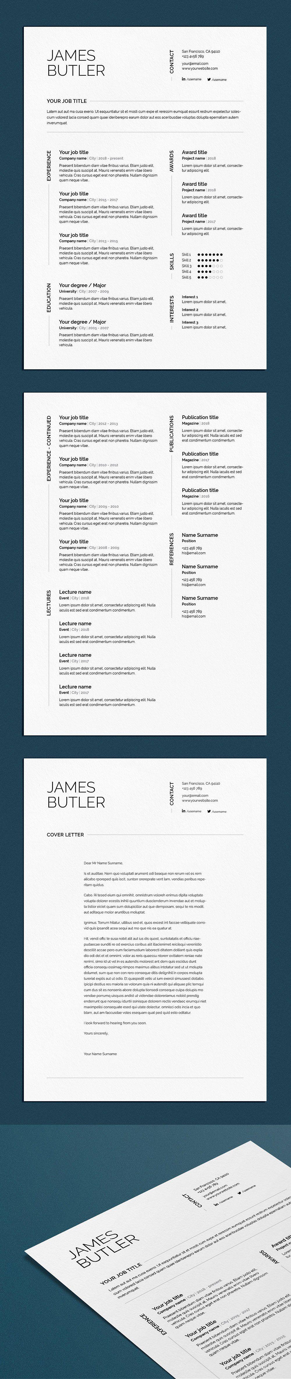 James CV / resume (3 pages) program, Resume