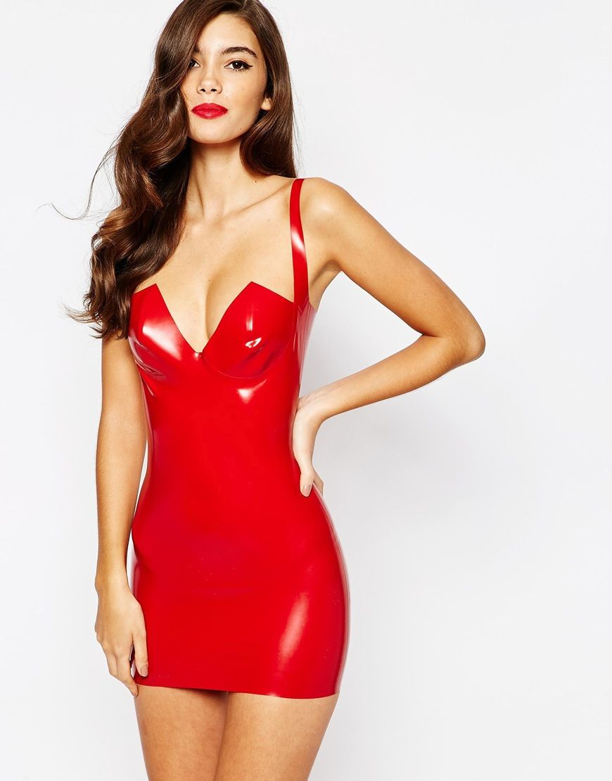 house of harlot dahlia latex slip dress runners in love and my