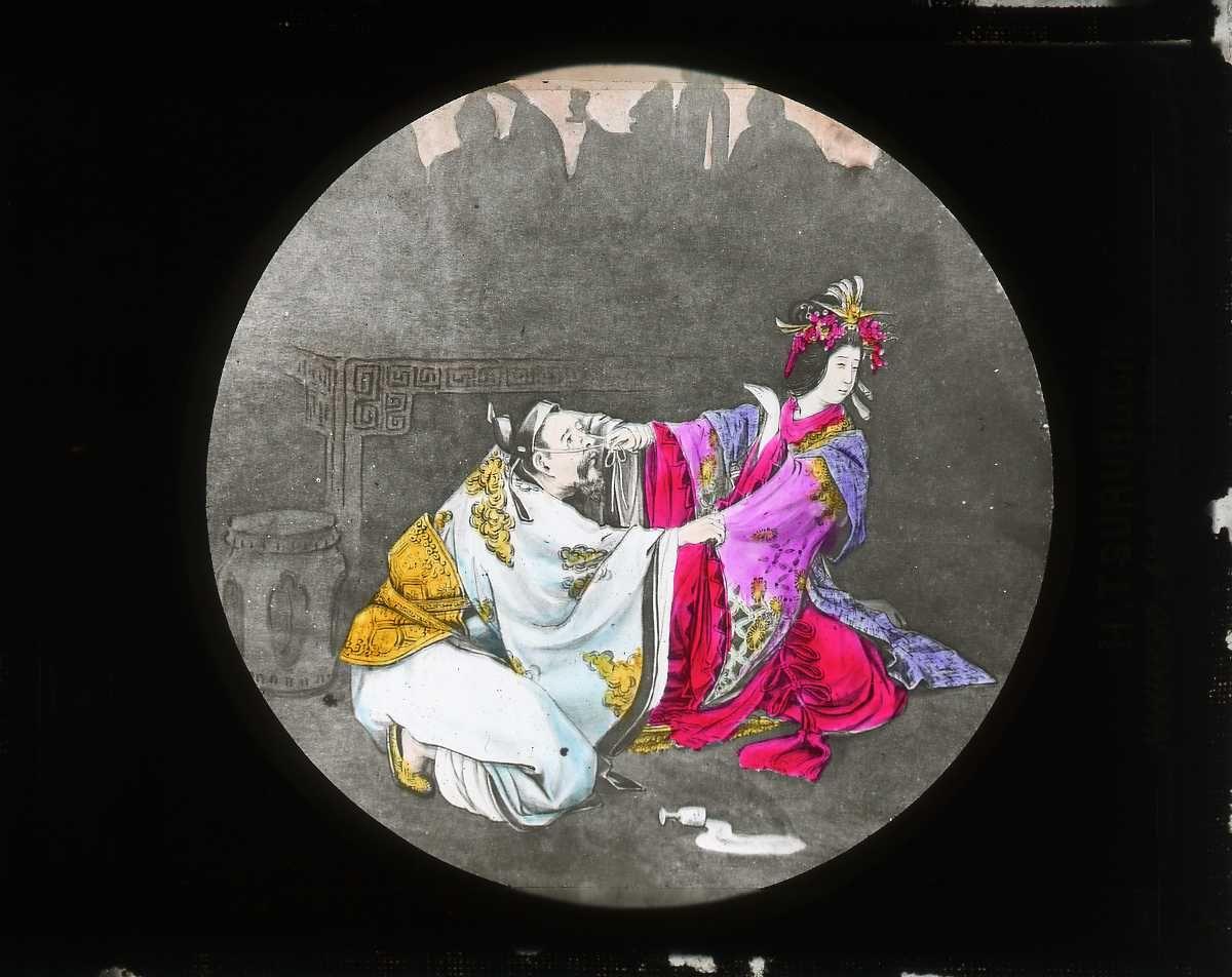 """Magic lantern slide: King of """"So"""""""