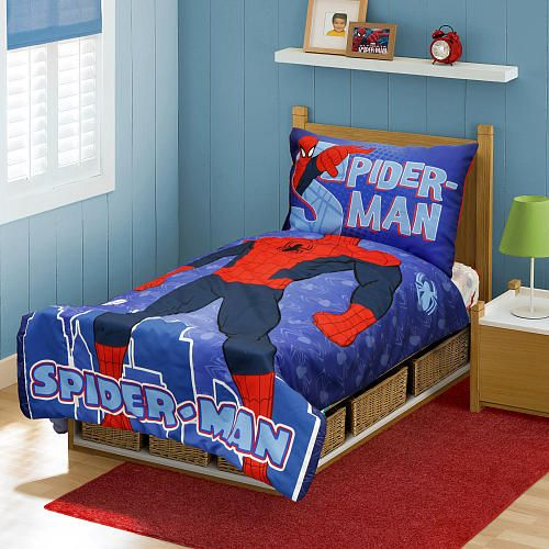 Marvel Spiderman 4 Piece Toddler Bedding Set Toddler Bed Set