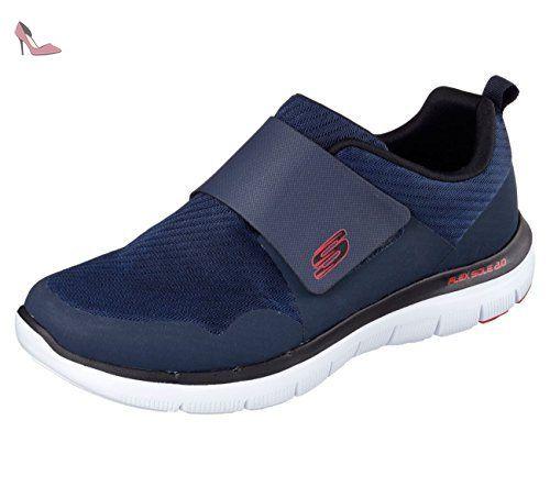 Skechers Equalizer Game Point, Sneakers Basses Garçon, Bleu (Marine), 37 EU (UK Child 4 Enfant UK)