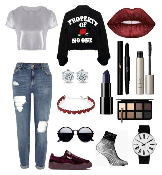 """Jade❤️"" by anissa2208 on Polyvore featuring mode, Related, River Island, Puma, Boohoo, Rosendahl, Simons, Lime Crime, Ilia et Yves Saint Laurent"