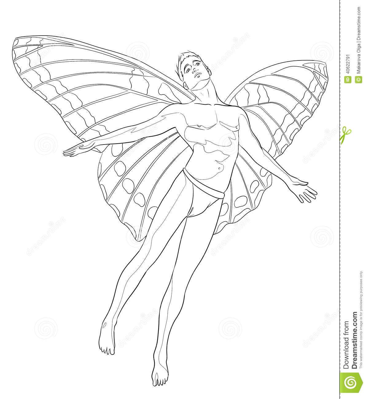 Fairy Man Coloring Page Fairy Drawings Toddler Coloring Book Fairy Coloring