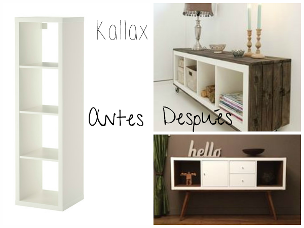 muebles de ikea tuneados el antes y despu s. Black Bedroom Furniture Sets. Home Design Ideas