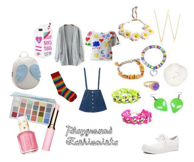 """Playground Fashionista"" by elixa-mortua ❤ liked on Polyvore featuring Sephora Collection, Venessa Arizaga, Retrò, Glenda López, Clarins, Topshop, Essie and Chicnova Fashion"