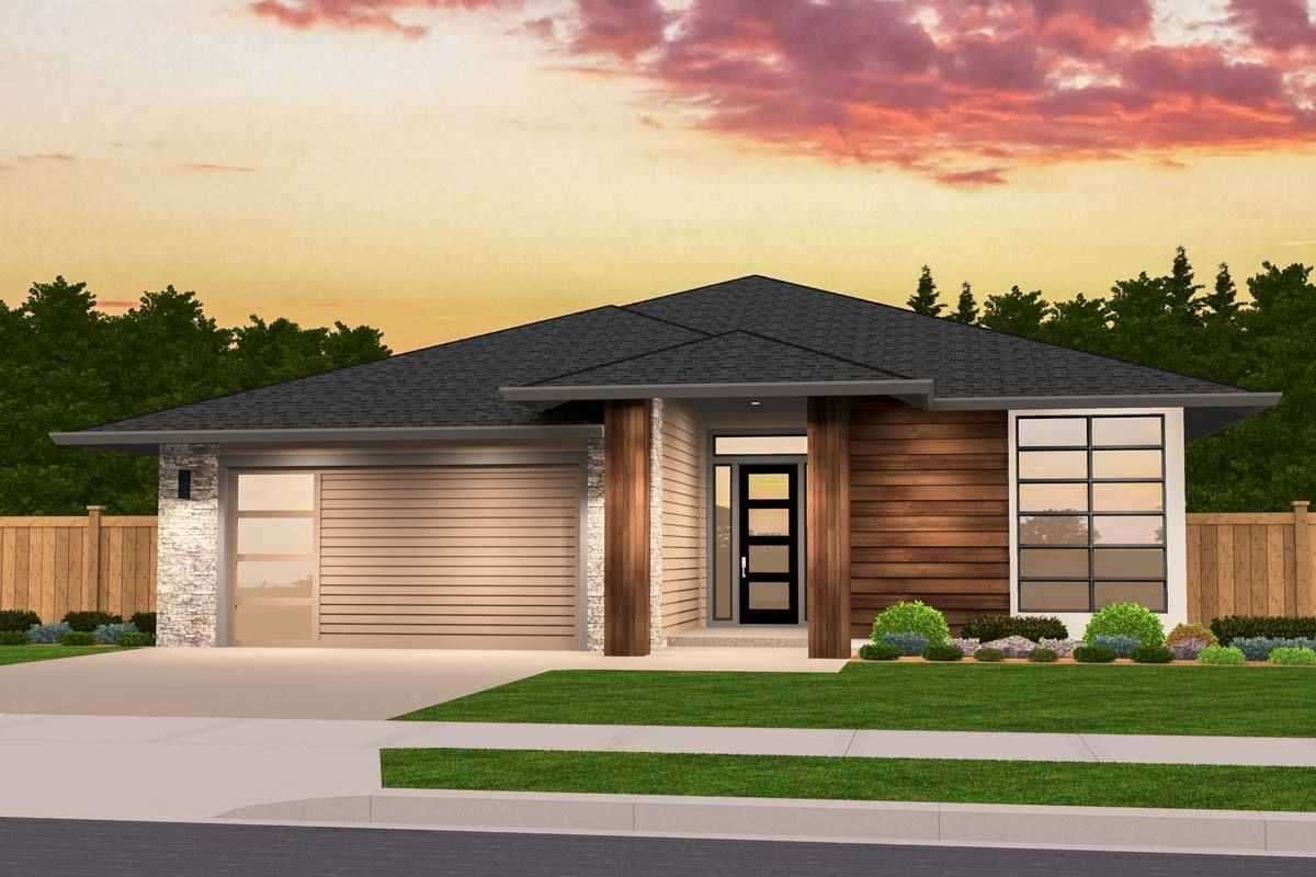 Exclusive One Story Prairie House Plan with