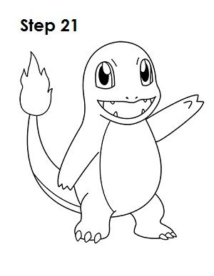 How To Draw Charmander Charmander Drawing
