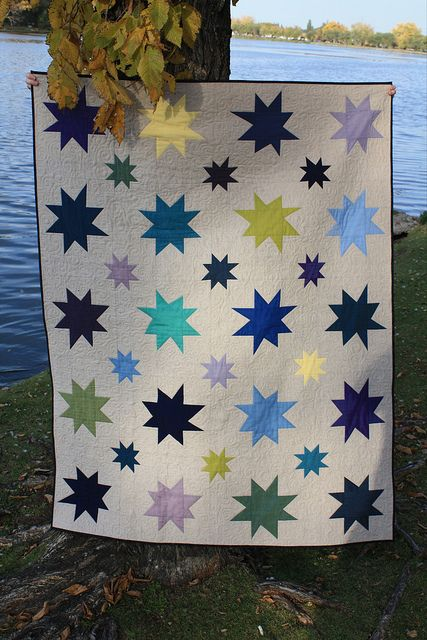 Wonky Star Quilt With Link To Wonky Star Tutorial Everyday Fray