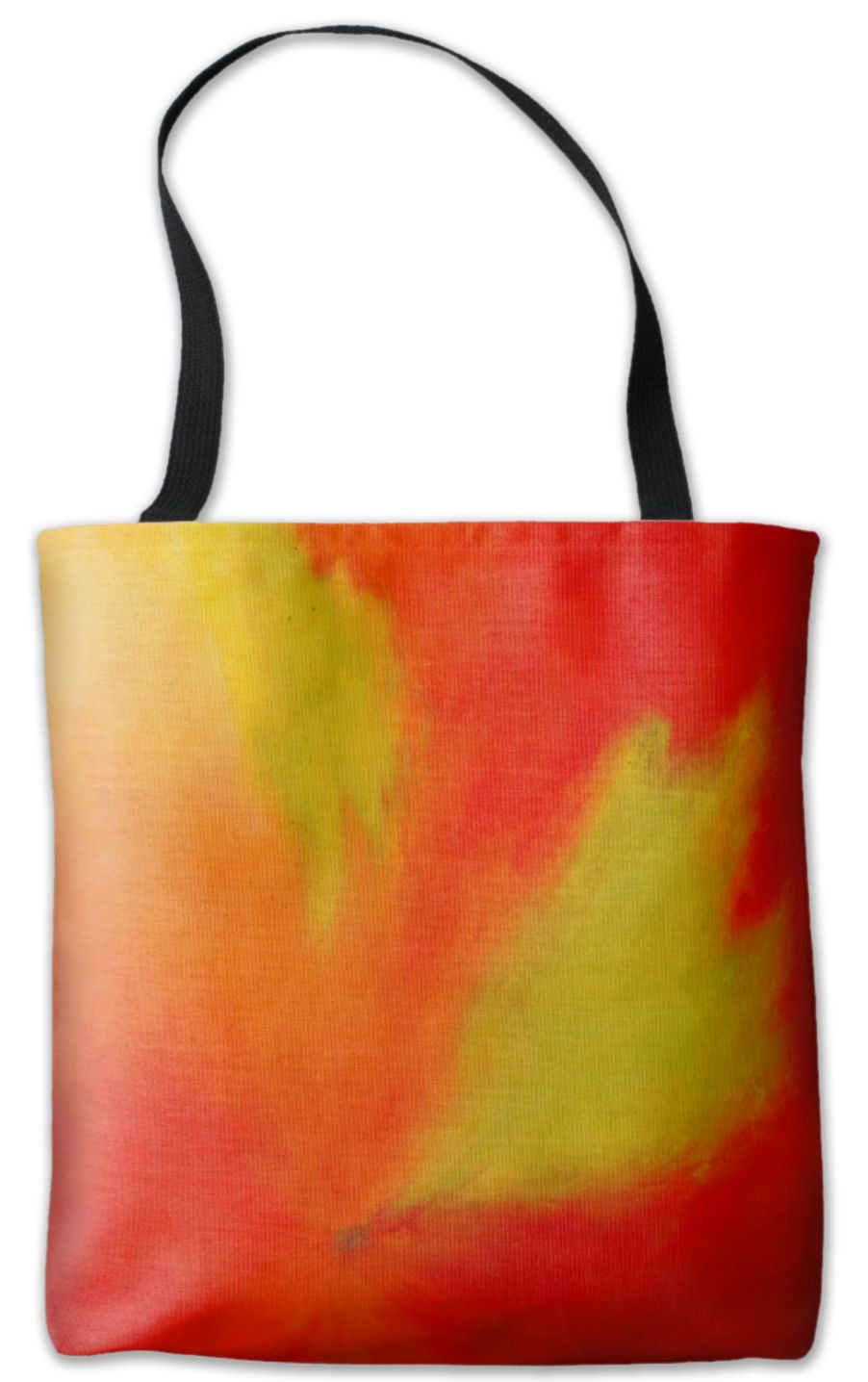 Mango Bright And Vibrant Bold Red Abstract Tote Bag By The Painted