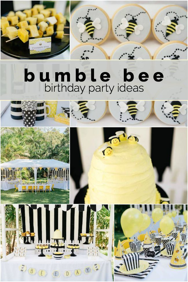 Bumblee Bee Birthday Party Ideas for Boys | bee birthday | Pinterest ...