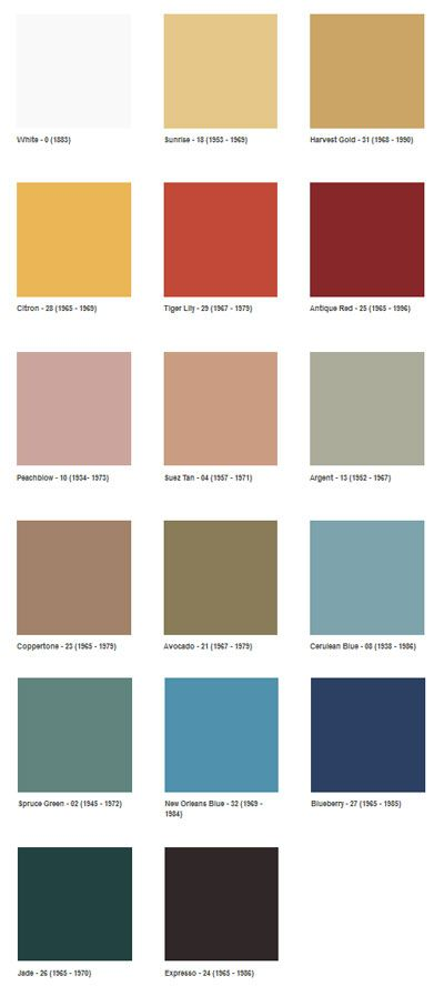 1960s Color Swatches. Repinned By Secret Design Studio, Melbourne.  Www.secretdesignstudio.