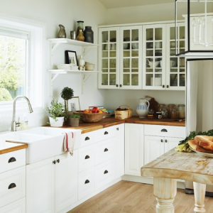 Butcher Block Countertops 3 Lovely Cottage Interior Cottage