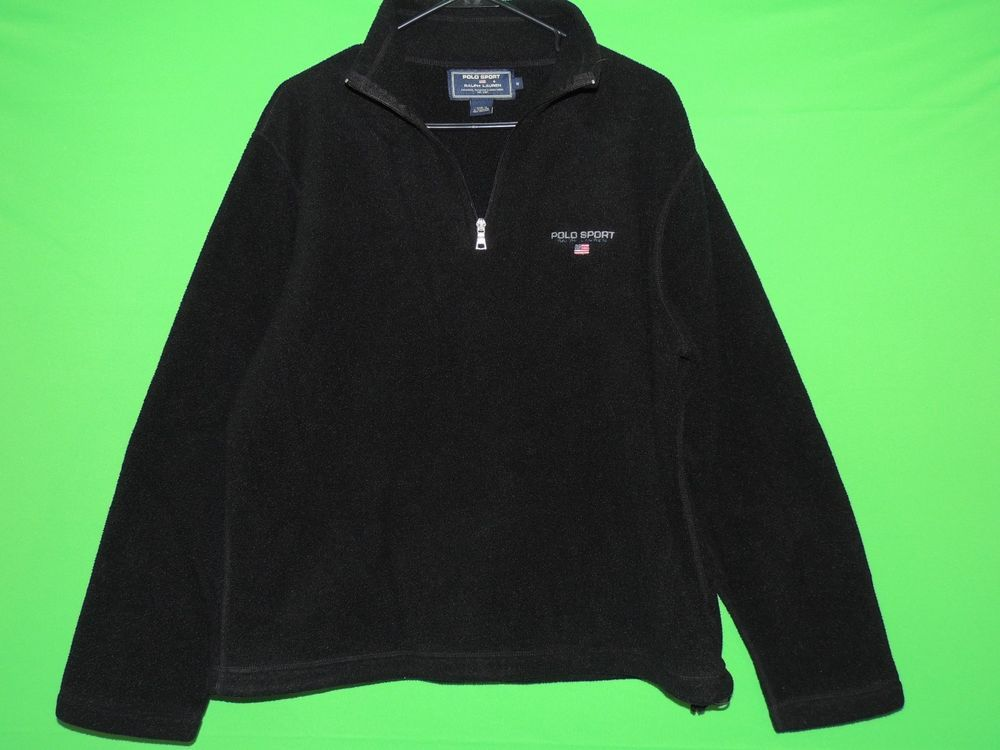 #PoloSport #Polo #RalphLauren #Mens #Medium #HalfZip #Black #Sweater #Sweatshirt #FREEShipping