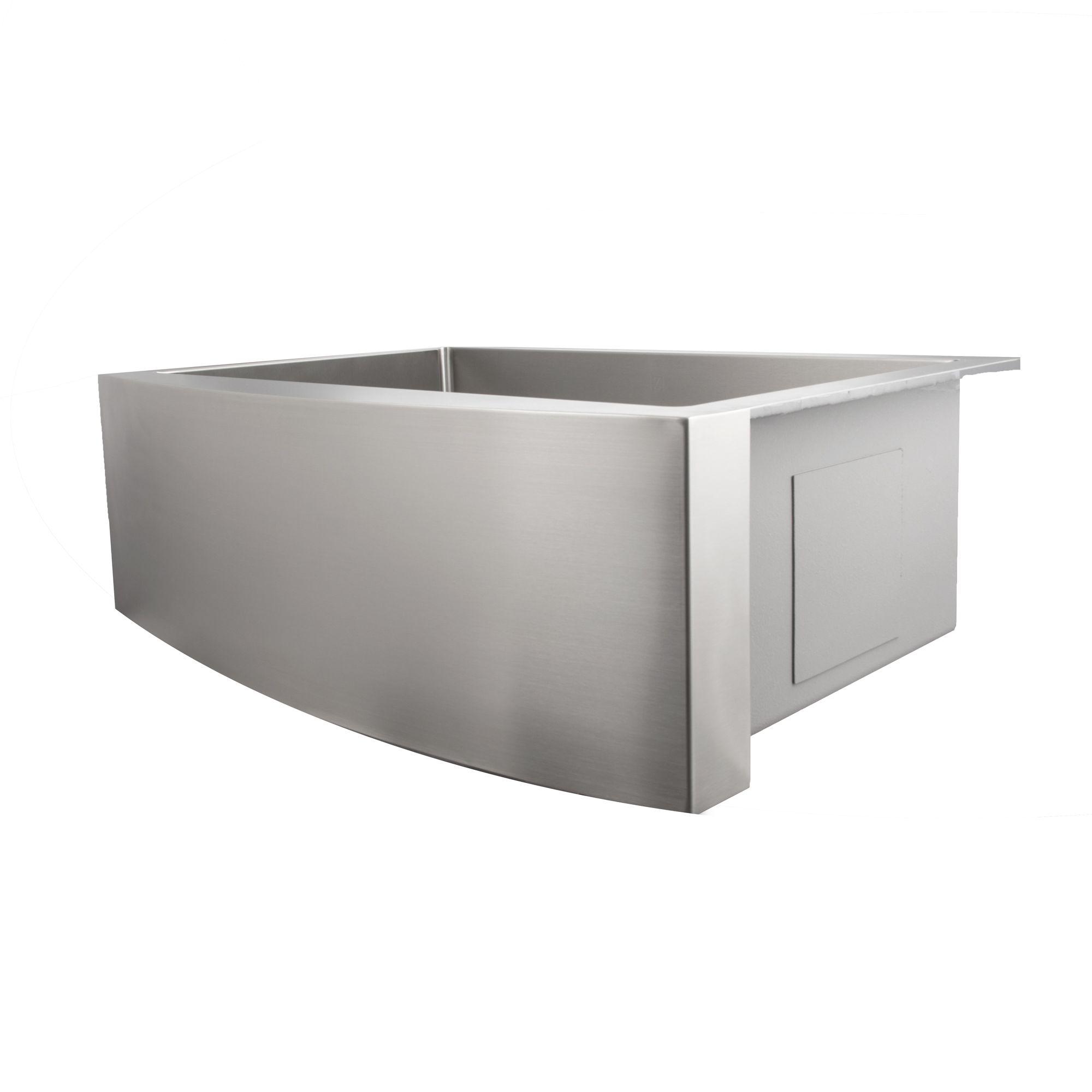 Zline Farmhouse Series 30 Inch Undermount Single Bowl Apron Sink In Stainless Steel Sas 30 Apron Sink Sink Kitchen And Bath