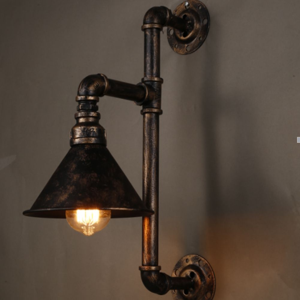 Vintage Water Pipe Wall Lights Personalized Decoration Wall Lamps ...