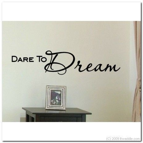 DARE TO DREAM - Vinyl Wall Lettering Words Decor Art Decal, $11.95