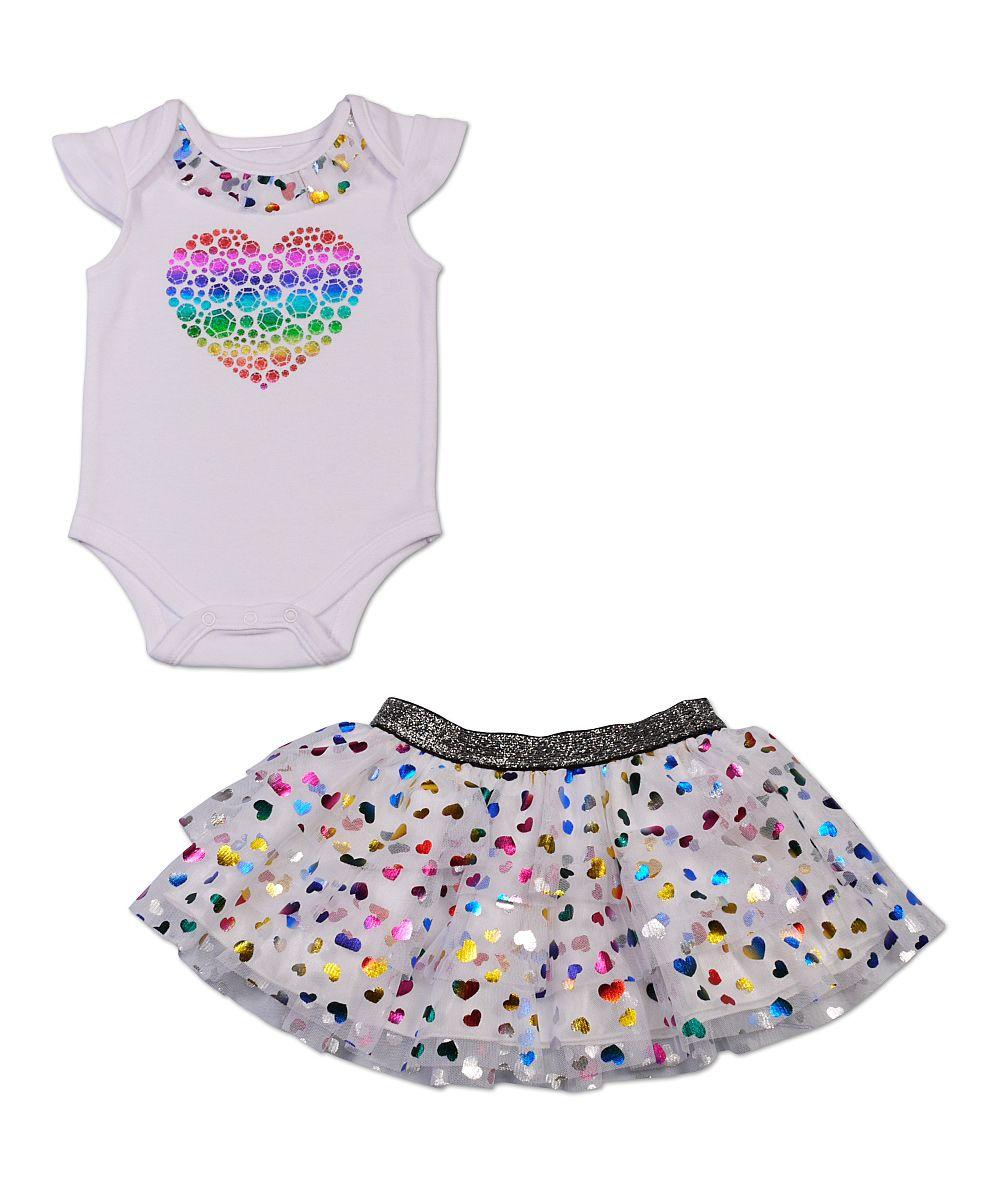 Rainbow Heart Bodysuit & Speckle Skirt - Infant..oh my ...