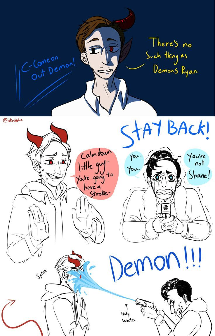 I think its a crime I havent been drawing demon!shane
