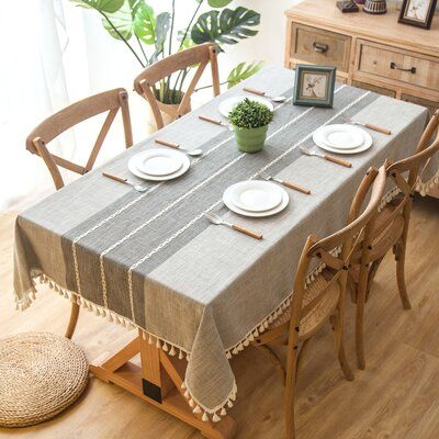 Union Rustic Dunbar Elegant Rectangle Tablecloth In 2020 Dining
