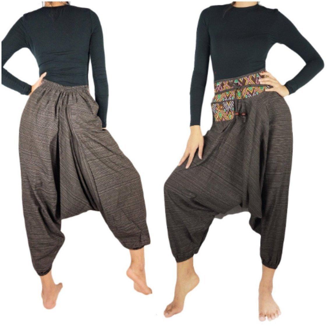 Cotton Drop Crotch Women Tribal Boho Pants Hippie 35.00