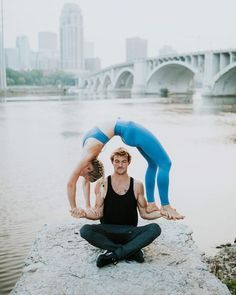 yoga acro couples beginner poses girls inspiration get