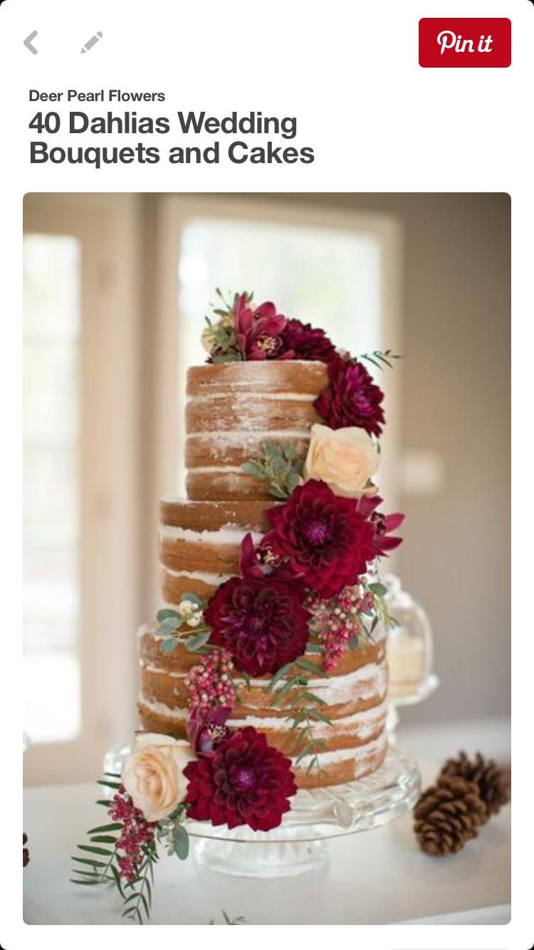 Wedding decoration ideas burgundy  Pin by Beth Herron on Wedding cakes  Pinterest  Wedding cake and