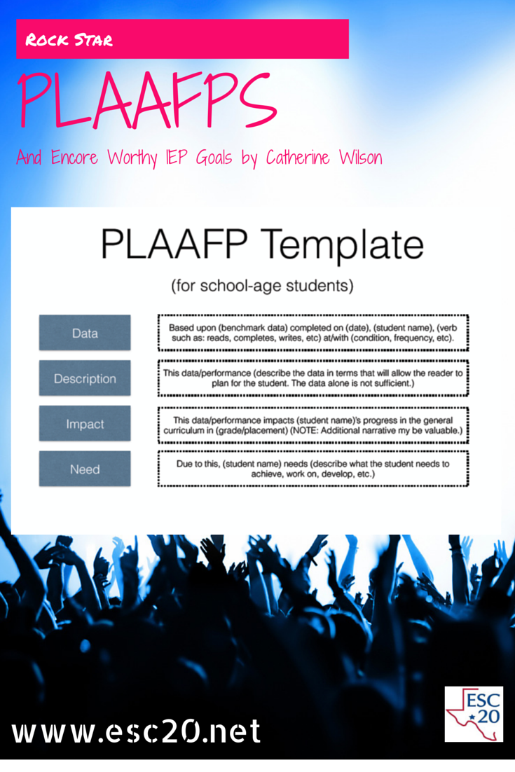 example of a plaafp template to help outline the critical