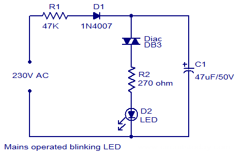 Light Emitting Diode Circuit Diagram | Blinking Ledcircuit Is An Electrical Circuit Used To Power A