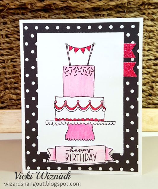 CTMH Celebrate with Cake May SOTM birthday card with La Vie En