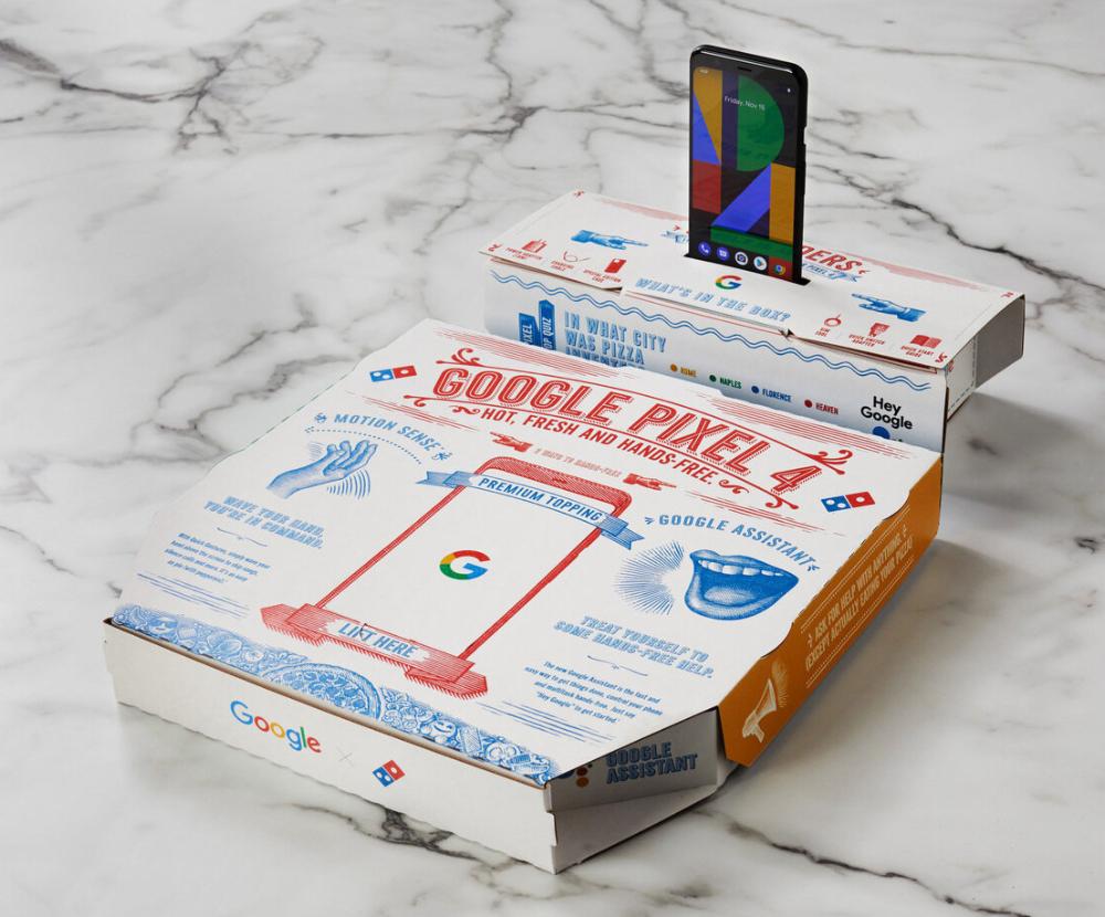 Google Pixel Domino S Pizza Box Artwork By Steven Noble On Behance Packaging Agence De Communication Boite Pizza