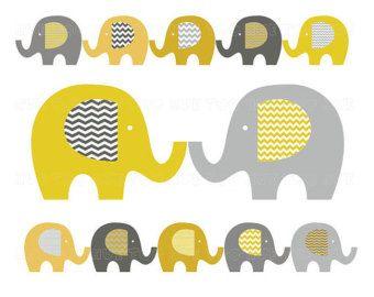 Elefanten Clip Kunst Baby Elefant Clipart Pastell Washi Von Huetoo