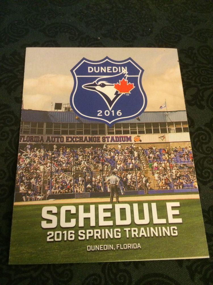 Toronto Bluejays 2016 Spring Training Baseball Pocket