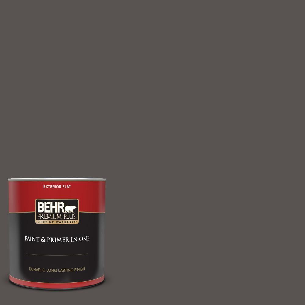 Behr Premium Plus Home Decorators Collection 1 Qt Hdc Cl 24g Equestrian Leather Flat Exterior Paint And Primer In 2020 Behr Premium Plus Exterior Paint Behr