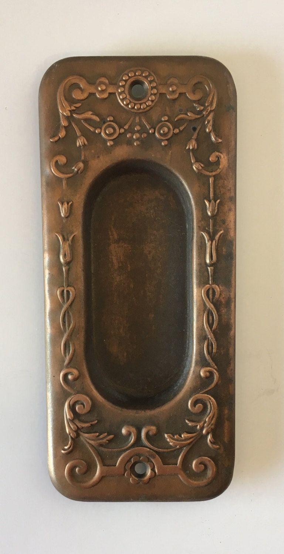 Decorative Antique Pocket Door Pull E0031 - Decorative Antique Pocket Door Pull E0031 Pocket Door Pulls, Door